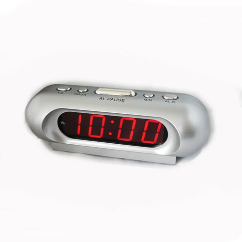 Часы сетевые 716-1 красные