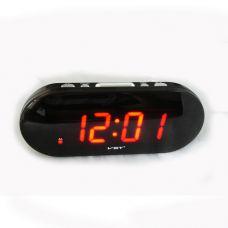 Часы сетевые 717-1 красные