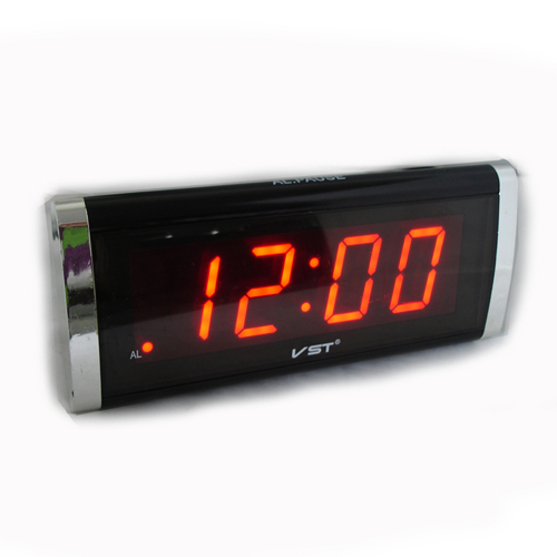 Часы сетевые 730-1 красные