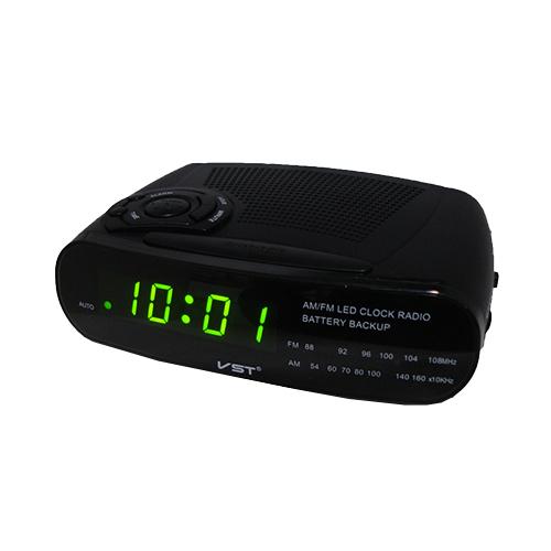 Часы сетевые 906-2 зеленые