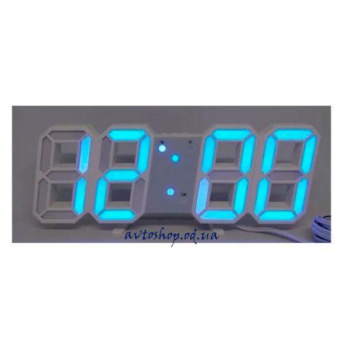 Настольные электронные часы LY 1089 с термометром синие