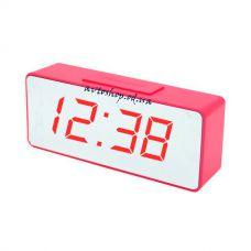 Настольные часы VST 886Y-1 красные