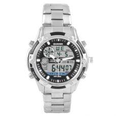 Часы наручные 1313 QUAMER, box, sport, стальной браслет, dual time