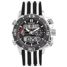Часы наручные 1320 QUAMER, box, sport, ремешок, dual time