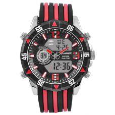 Часы наручные 1508 QUAMER, box, sport, dual time, ремешок