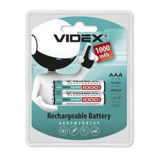 Аккумуляторы Videx - Rechargeable Battery AAA HR03 Ni-MH 1000mAh 1.2V