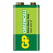 Батарейки GP - Greencell 6F22 Крона 9V