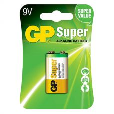 Батарейки GP - Super Alkaline 6LR61 / 6LF22 Крона 9V