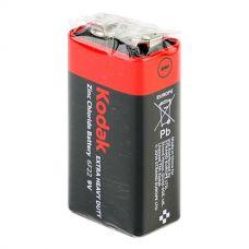 Батарейки Kodak - Extra Heavy Duty 6F22 Крона 9V 10шт.