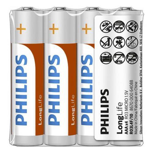 Батарейки Philips - Longlife ААА R03 1.5V 4шт.