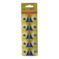 Батарейки T&E - Alkaline Battery AG1 LR621 1.55V