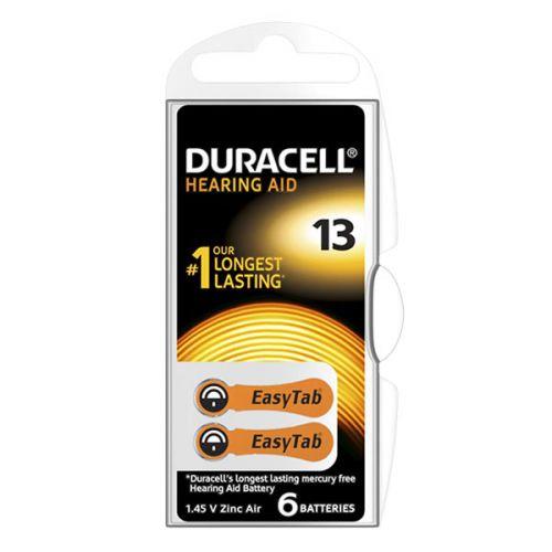 Воздушно цинковые батарейки 13 - duracell hearing aid 6/60/600шт