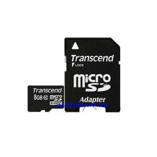 Карта памяти TRANSCEND MicroSDHC 8 GB CLASS 10 (+ SD ADAPTER)