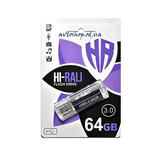 Флешка 3.0 Hi-Rali 64GB Corsair series Black