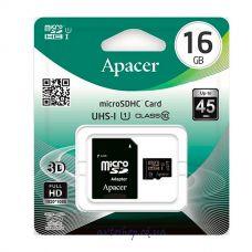 Карта памяти 16GB Apacer micro SDHC UHS-1 с адаптером SD