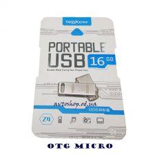 USb флеш Tranyco Z4 16G с OTG переходником на MicroUSB