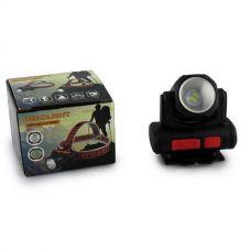 Фонарь налобный аккумуляторный, BL-2001, 4SMD + XPE