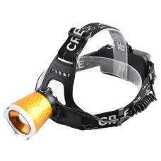 Фонарь 12V Small Sun UV5866 XPE+ультрафиолет, ак.18650, zoom, на лоб, комплект