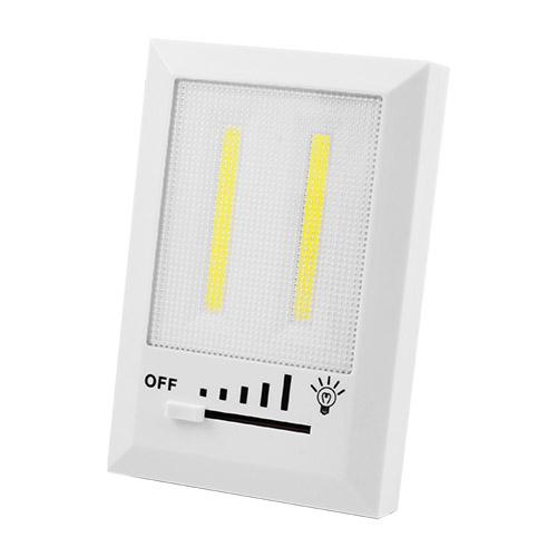 Подсветка универсальная в виде выключателя HB322-2COB, магнит, липучки, 4хAAA