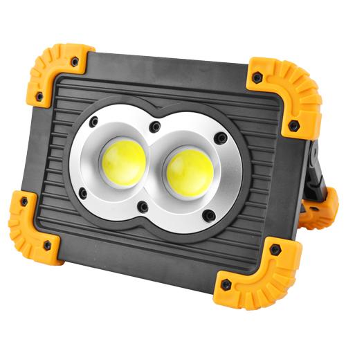Прожектор светодиодный L802-20W-2COB+1W, 2x18650/3xAA, ЗУ micro USB, Power Bank