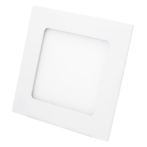 Точечный LED-светильник PL 6W 118х118x18мм, квадрат, алюминий - 36