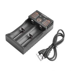 Зарядное устройство C20, универсальное, 2x14500/16340/18650/26650, USB