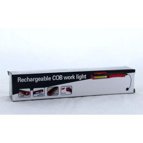 Аккумуляторный фонарик с магнитом и microUSB зарядкой Esen 86A COB