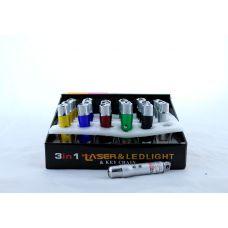 Брелок / ультрафиолетовый фонарик / фонарик led / лазер 4в1 LASER ZK 117-3L