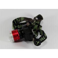 Налобный фонарик BL 6902-2 2х режимный / фонарь с белым и ультрафиолетовым светодиодом