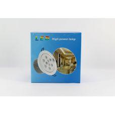 Светодиодная лед - лампа LED LAMP 9W врезная круглая точечная 1404
