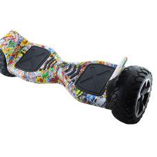 """Гироборд 8.5"""" HM №16 Граффити черепа встроенный bluetooth приложений Автобаланс с АКБ Samsung"""