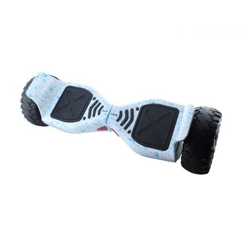 """Гироборд 8.5"""" HM №3 Капли воды на белом фоне встроенный bluetooth приложений Автобаланс с АКБ Samsung"""