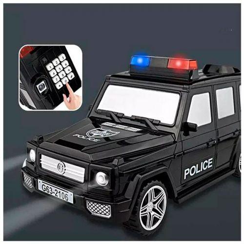 Машинка копилка с кодовым замком / Детский сейф копилка / Копилка для денег