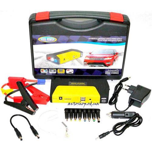 Пусковое автомобильное устройство для аккумулятора JUMP STARTER Power Bank 50800 mAh универсальное (для ноутбука/телефона/авто)