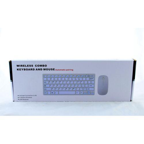 Беспроводная компьютерная клавиатура и мышка wireless 901 Apple / Клавиатура + Мышка