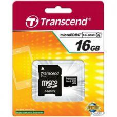 MicroSD 16Gb (4Class) Transcend