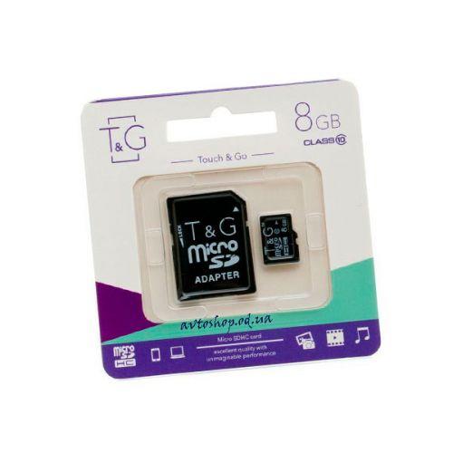 Карта памяти T&G micro SDHC 8GB class 10 (с адаптером)