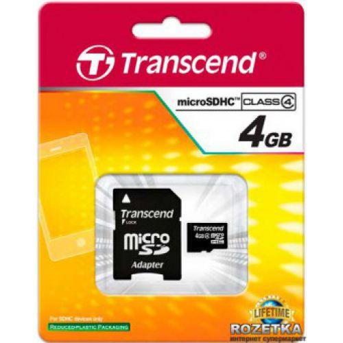 MicroSD Transcend 4GB  SD adapter