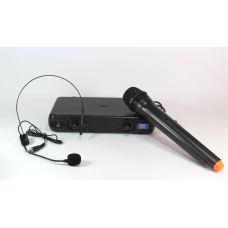 Микрофон беспроводной с гарнитурой UKC EW500H / база + радиомикрофон + гарнитура