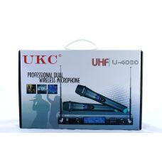 Микрофон UKC DM-4000 UHF / база + 2 радиомикрофона