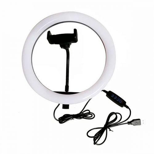 Кольцевая LED лампа для селфи 20 см без штатива, сельфи кольцо