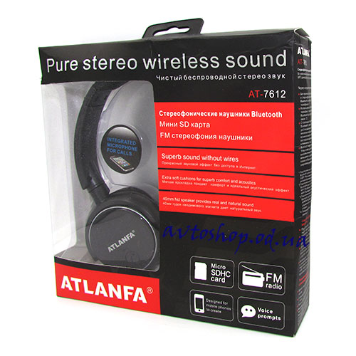 Наушники ATLANFA 7612 Bluetooth,FM,MP-3
