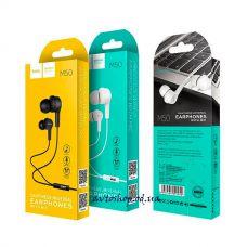 Наушники вакуумные HOCO M50 с микрофоном
