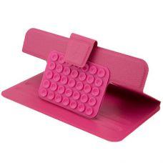 Чехол-книжка на присосках для планшета 7 дюймов розовый