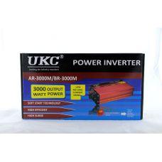 Преобразователь UKC AC/DC AR 3000W c 12V на 220V (c функции плавного пуска преобразователя)