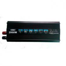 Преобразователь напряжения UKC 12V-220 Вольт 2000 Вт