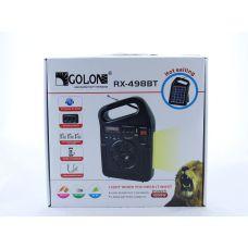 Радио GOLON RX 498BT с солнечной зарядкой / MP3 / Bluetooth / фонарь / TF slot и USB разъем