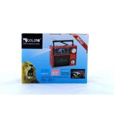 Радиоприемник Golon RX 201 портативная колонка USB /SD / MP3/ FM / LED фонарик