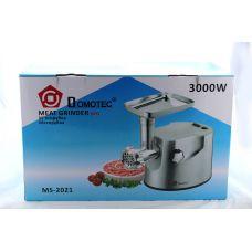 Мясорубка электрическая / металлический корпус / Domotec MS 2021 / 3000W