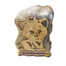 Солевой светильник кот